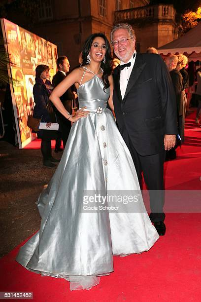 Mallika Sherawat and Martin Moszkowicz Member of the board of Constantin Film during the German Films Reception at the annual 69th Cannes Film...
