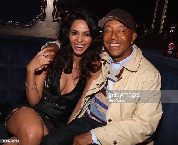 Mallika Sherawat and Russell Simmons attend SwaggMedia's Persona Magazine Launch with Amber Rose hosted by Russell Simmons at The Griffin on...