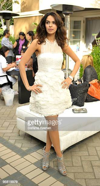 Mallika Sherawat appears at day two of The InStyle Golden Globes Beauty Lounge 2010 at Four Seasons Hotel on January 16 2010 in Beverly Hills...