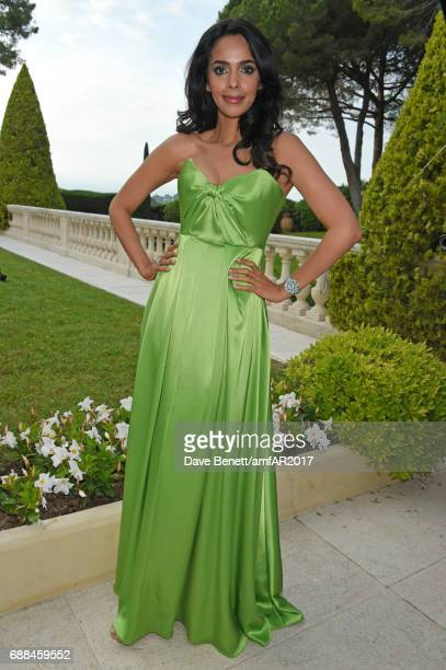 Mallika Sherawat arrives at the amfAR Gala Cannes 2017 at Hotel du CapEdenRoc on May 25 2017 in Cap d'Antibes France
