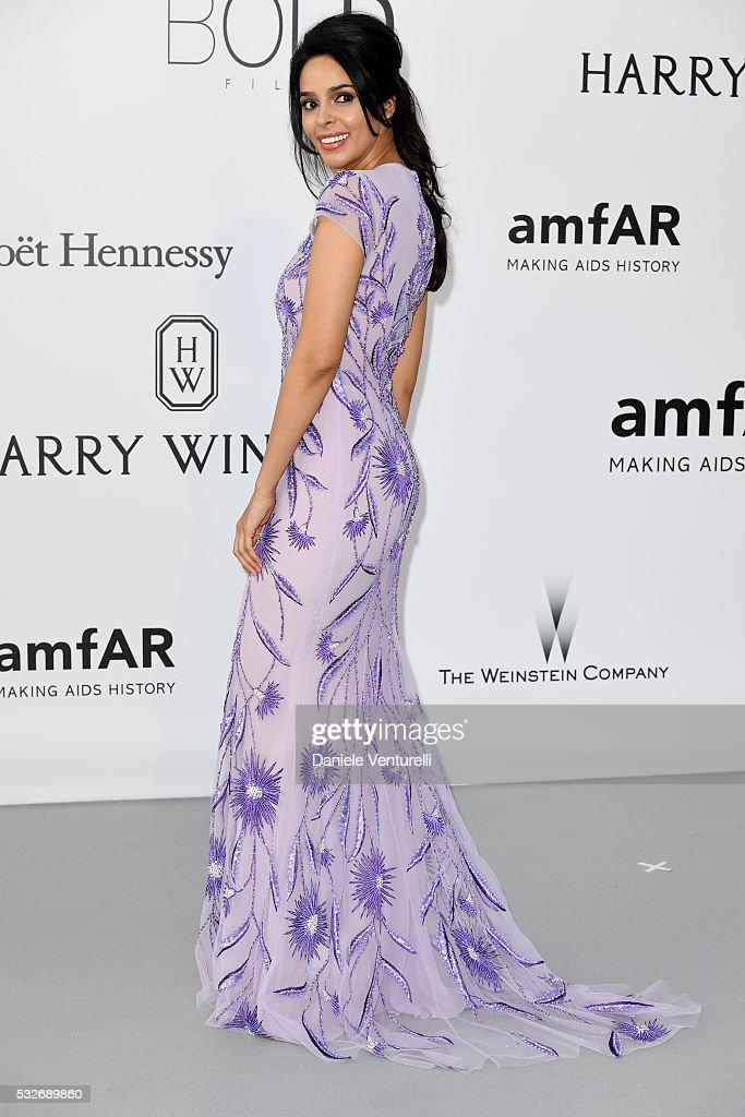 <a gi-track='captionPersonalityLinkClicked' href=/galleries/search?phrase=Mallika+Sherawat&family=editorial&specificpeople=233692 ng-click='$event.stopPropagation()'>Mallika Sherawat</a> attends the amfAR's 23rd Cinema Against AIDS Gala at Hotel du Cap-Eden-Roc on May 19, 2016 in Cap d'Antibes, France.