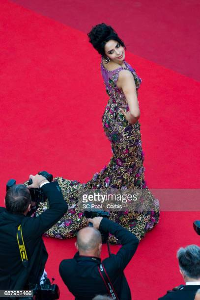 Mallika Sherawat attends 'The Beguiled' premiere during the 70th annual Cannes Film Festival at Palais des Festivals on May 24 2017 in Cannes France
