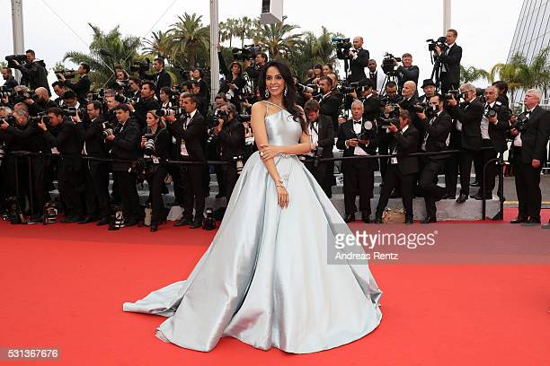 Mallika Sherawat attends 'The BFG ' premiere during the 69th annual Cannes Film Festival at the Palais des Festivals on May 14 2016 in Cannes France