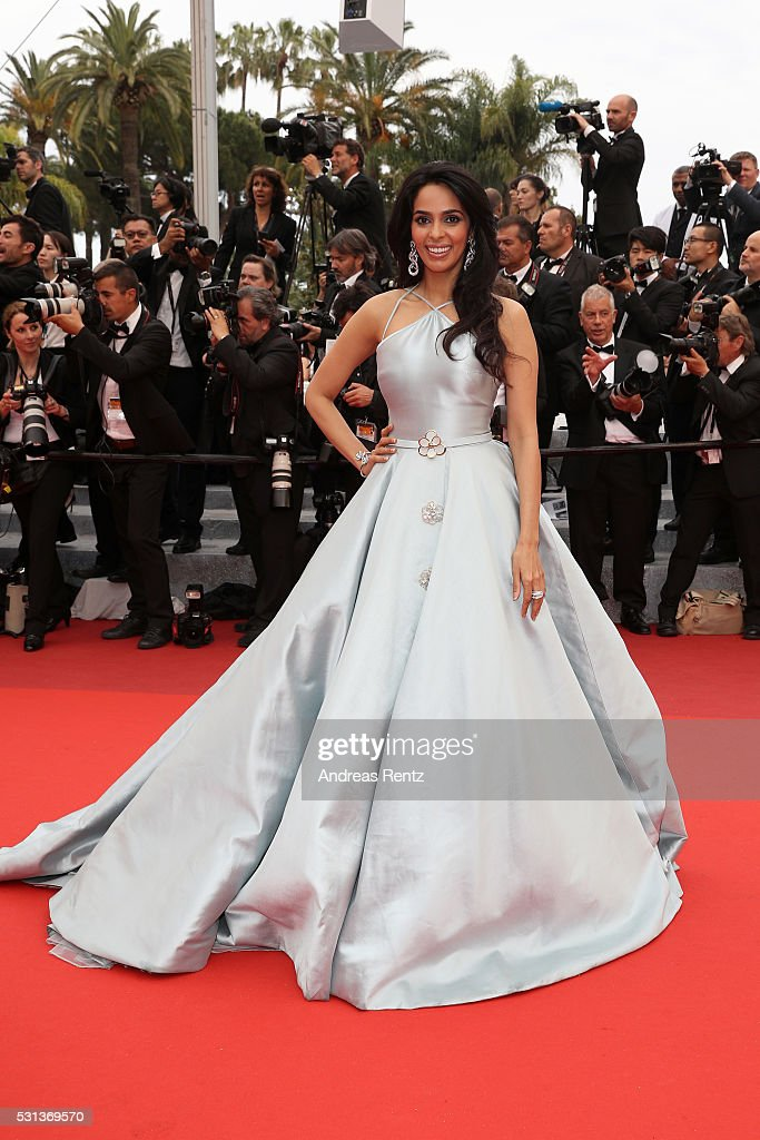 <a gi-track='captionPersonalityLinkClicked' href=/galleries/search?phrase=Mallika+Sherawat&family=editorial&specificpeople=233692 ng-click='$event.stopPropagation()'>Mallika Sherawat</a> attends 'The BFG (Le Bon Gros Geant - Le BGG)' premiere during the 69th annual Cannes Film Festival at the Palais des Festivals on May 14, 2016 in Cannes, France.
