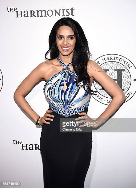 Mallika Sherawat attends The Harmonist Cocktail Party during The 69th Annual Cannes Film Festival at Plage du Grand Hyatt on May 16 2016 in Cannes