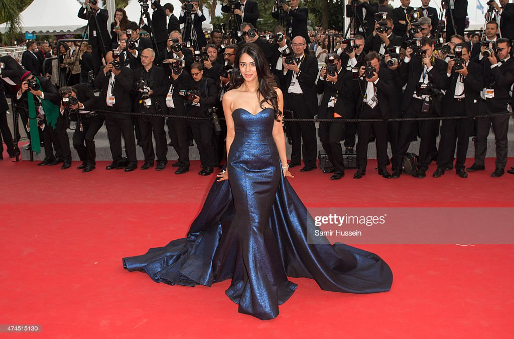 <a gi-track='captionPersonalityLinkClicked' href=/galleries/search?phrase=Mallika+Sherawat&family=editorial&specificpeople=233692 ng-click='$event.stopPropagation()'>Mallika Sherawat</a> attends the 'Macbeth' Premiere during the 68th annual Cannes Film Festival on May 23, 2015 in Cannes, France.