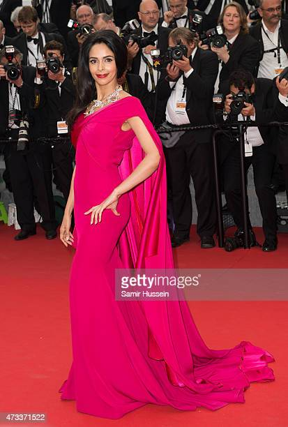 Mallika Sherawat attends the 'Mad Max Fury Road' Premiere during the 68th annual Cannes Film Festival on May 14 2015 in Cannes France