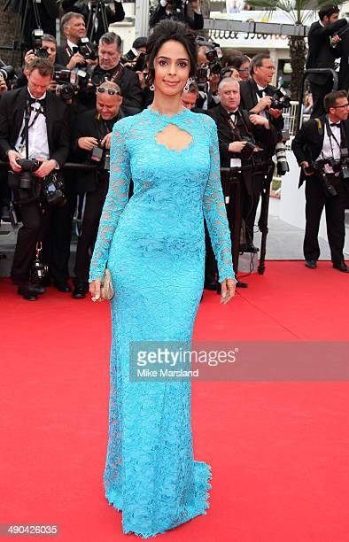 Mallika Sherawat attends the opening ceremony and 'Grace of Monaco' premiere at the 67th Annual Cannes Film Festival on May 14 2014 in Cannes France