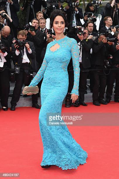 Mallika Sherawat attends the Opening Ceremony and the 'Grace of Monaco' premiere during the 67th Annual Cannes Film Festival on May 14 2014 in Cannes...