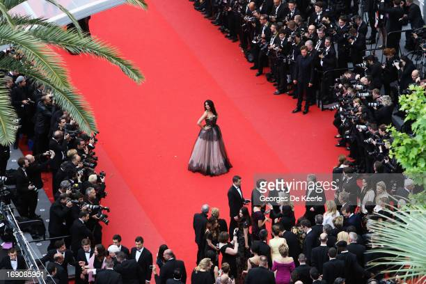 Mallika Sherawat attends the Premiere of 'Inside Llewyn Davis' during the 66th Annual Cannes Film Festival at Palais des Festivals on May 19 2013 in...