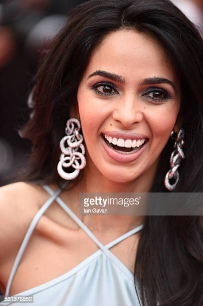 Mallika Sherawat attends the 'The BFG' Premiere during the annual 69th Cannes Film Festival at the Palais des Festivals on May 14 2016 in Cannes...