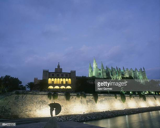 Mallorca Balearic Islans Palma de MallorcaAlmudaina Palace and Cathedral