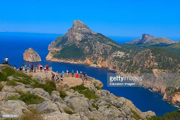 Mallorca Cabo de Formentor View point Formentor Cape Serra de Tramuntana UNESCO World Heritage Site Mallorca Island Majorca Balearic Islands Spain...