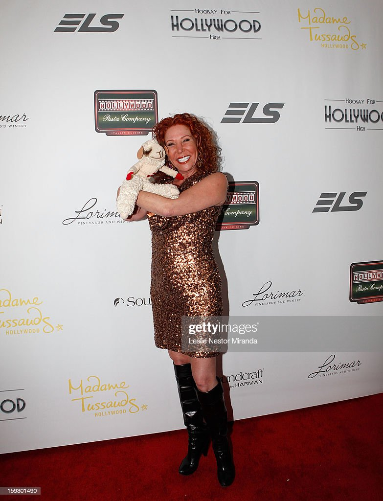 Mallory Lewis Tarcher and Lambchop attend an event honoring Carol Burnett with The First Annual 'Carol Burnett Honor Of Distinction Award' at the El Capitan Theatre on January 10, 2013 in Hollywood, California.