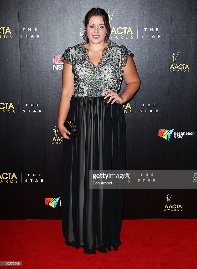 Mallory O'Neill arrives for the 2nd Annual AACTA Awards at The Star on January 30, 2013 in Sydney, Australia.