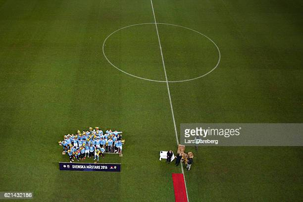 Malmo FF after the Allsvenskan match between Malmo FF and Hammarby IF at Swedbank Stadion on November 6 2016 in Malmo Sweden