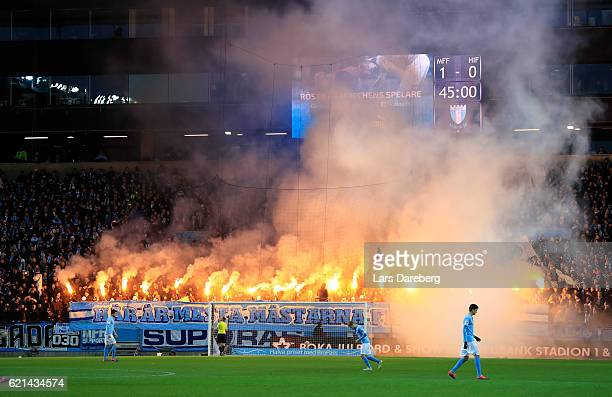 Malmo FF during the Allsvenskan match between Malmo FF and Hammarby IF at Swedbank Stadion on November 6 2016 in Malmo Sweden