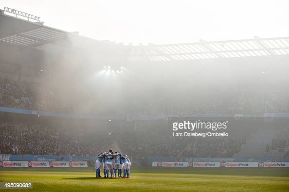 Malmo FF preparing the match between Malmo FF and IFK Norrkoping at Swedbank Stadion on October 31 2015 in Malmo Sweden