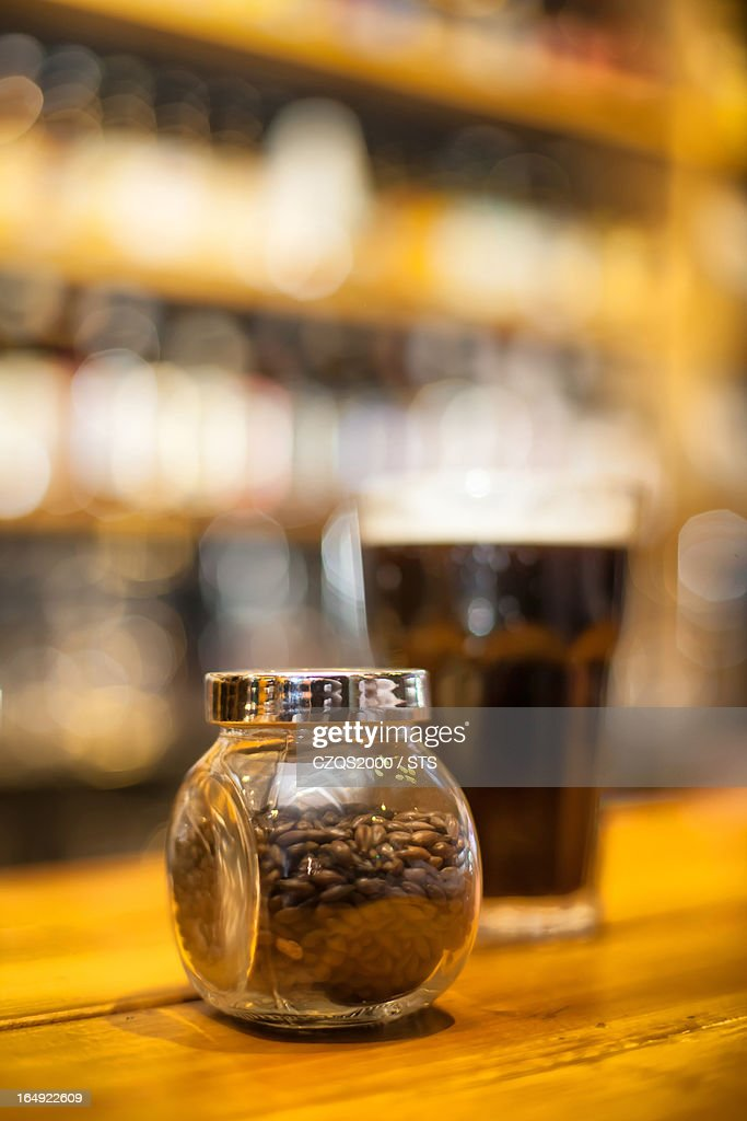 malt and beer : Stock Photo