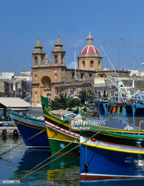 Malta, Marsaxlokk, harbour, fishing boats