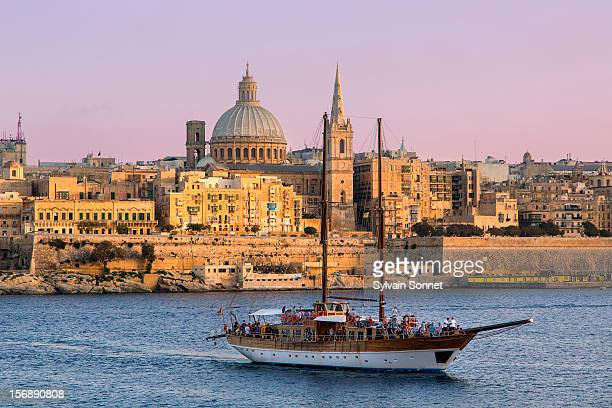 Malta, Valletta, skyline with St. Paul's Anglican