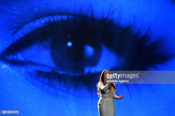 Malta's Claudia Faniello performs the song 'Breathlessly' during the second semifinal dress rehearsal of Eurovision Song Contest 2017 at the...