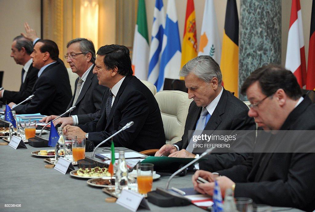 Malta's Prime Minister Lawrence Gonzi Italy's Prime Minister Silvio Berlusconi Luxembourg's Prime Minister JeanClaude Juncker European Commission...