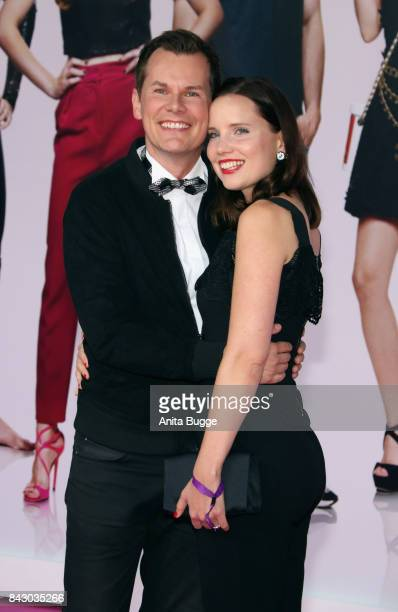 Malte Arkona and AnnaMaria Listl attend the 'High Society' Germany premiere at CineStar on September 5 2017 in Berlin Germany
