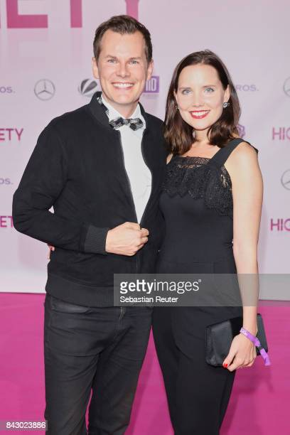 Malte Arkona and his wife Anna Arkona attend the 'High Society' premiere at CineStar on September 5 2017 in Berlin Germany