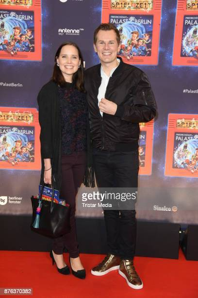 Malte Arkona and his wife AnnaMaria Arkona attend the premiere of the children's show 'Spiel mit der Zeit' at Friedrichstadtpalast on November 19...