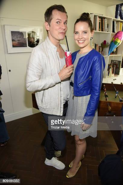 Malte Arkona and wife AnnaMaria Arkona attend the Klambt Fashion Cocktail in Berlin at Soho House on July 5 2017 in Berlin Germany