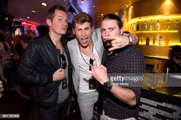 Malte Arkona Lukas Sauer and Felix von Jascheroff attend the 25th anniversary celebration at Hard Rock Cafe Berlin on May 18 2017 in Berlin Germany