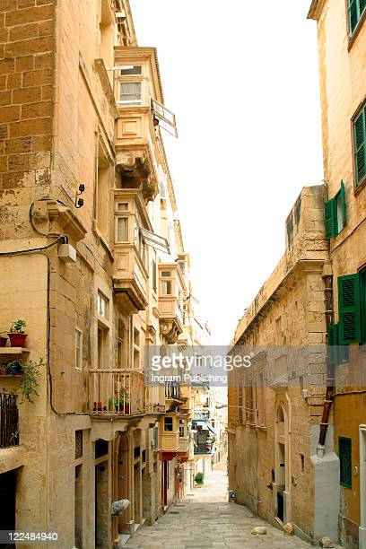 Maltese architecture, typical houses, Malta.