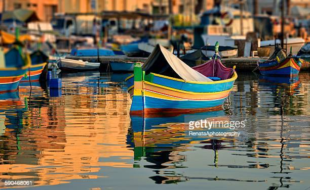 Maltese fishing boats, Marsaxlokk, Malta