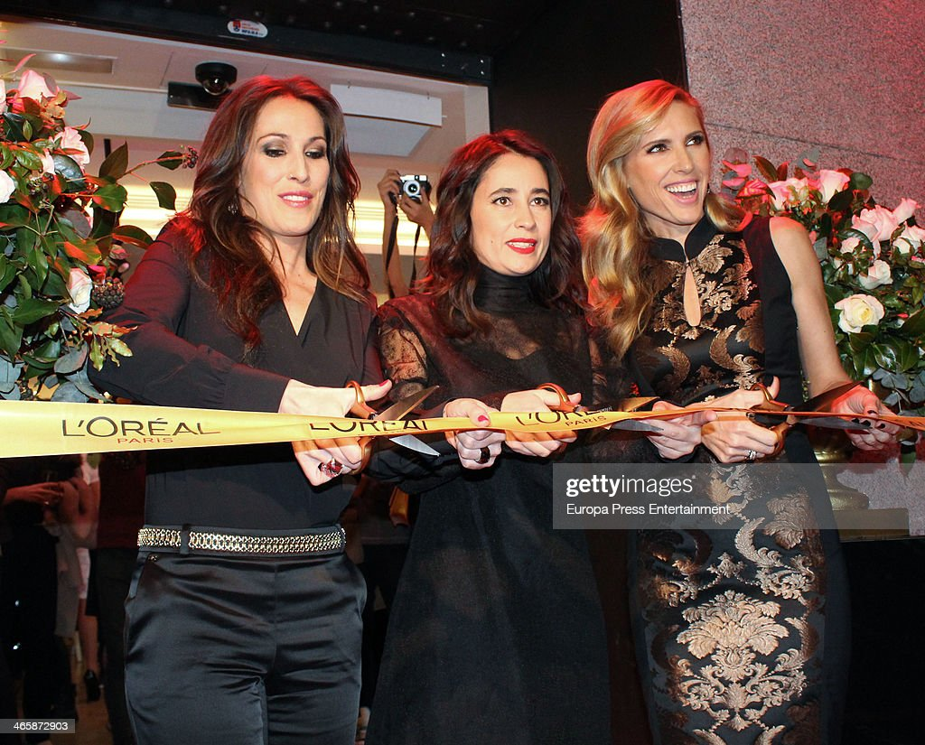 Malu and Judit Masco attend the openig of L'Oreal Paris store on January 29 2014 in Madrid Spain