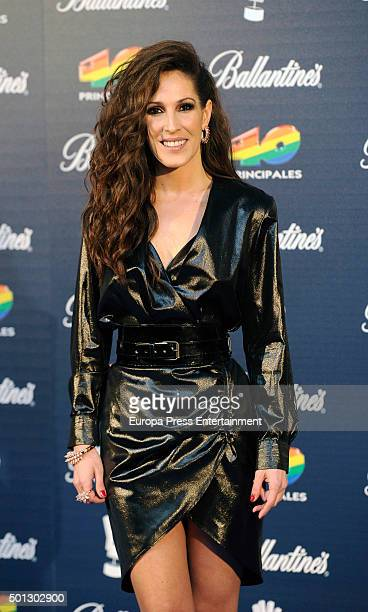 Malu attends the 40 Principales Awards 2015 photocall at Barclaycard Center on December 11 2015 in Madrid Spain