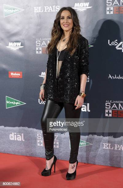 Malu attends the 'Mas Es Mas' concert photocall at Vincente Calderon stadium on June 24 2017 in Madrid Spain