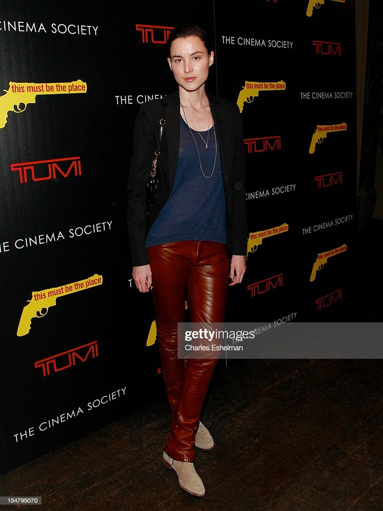 Malu Byrne attends the Weinstein Company, The Cinema Society & Tumi screening of 'This Must Be the Place' at the Tribeca Grand Screening Room on October 25, 2012 in New York City.