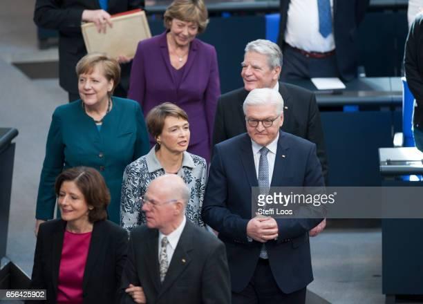 Malu Dreyer Governor of RhinelandPalatinate and President of the German Bundestag Norbert Lammert new German President FrankWalter Steinmeier and his...