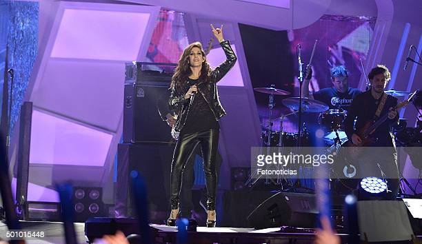 Malu performs during the 40 Principales Awards Gala at the Barclaycard Center on December 11 2015 in Madrid Spain