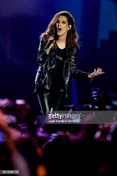 Malu performs on stage during '40 Principales Awards 2015 Gala' at Barclaycard Center on December 11 2015 in Madrid Spain