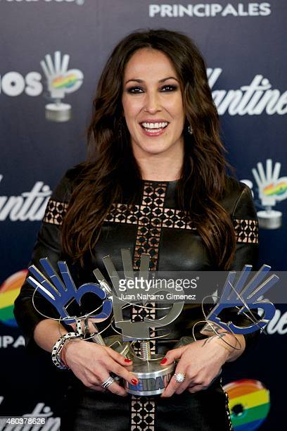 Malu receives her awards 40 Principales Awards 2014 at Palacio de los Deportes on December 12 2014 in Madrid Spain