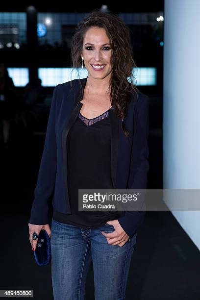 Malu receives the L'Oreal award during MercedesBenz Fashion Week Madrid Spring/Summer 2016 at IFEMA on September 21 2015 in Madrid Spain