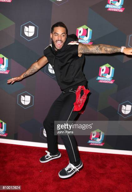 Maluma attends the Univision's 'Premios Juventud' 2017 Celebrates The Hottest Musical Artists And Young Latinos ChangeMakers Media Center at the...