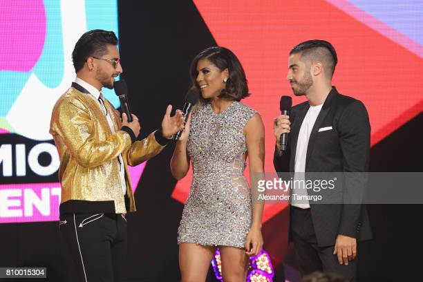 Maluma Francisca Lachapel and Borja Voces attend the Univision's 'Premios Juventud' 2017 Celebrates The Hottest Musical Artists And Young Latinos...