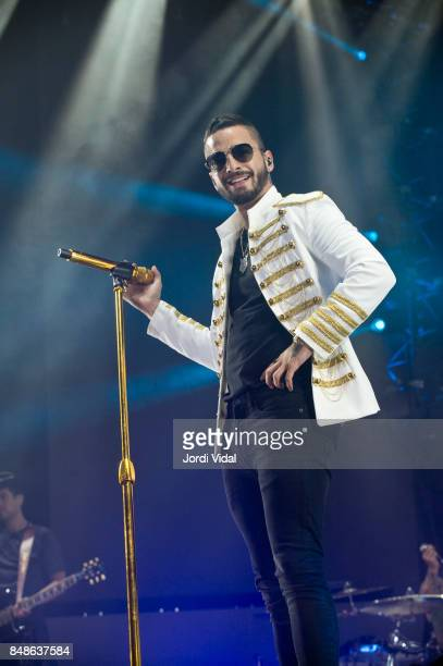 Maluma performs on stage at Palau Sant JOrdi on September 17 2017 in Barcelona Spain