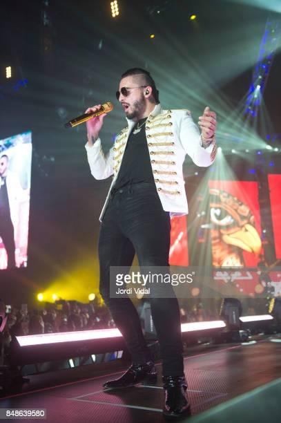 Maluma performs on stage at Palau Sant JOrdi on September 17 2017 in Barcelona Spain