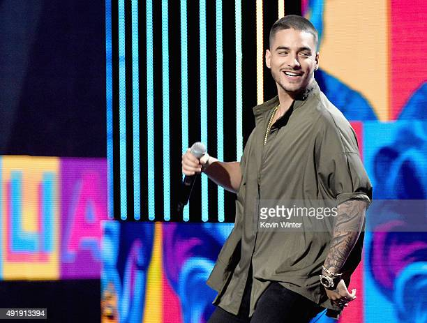 Maluma performs onstage during Telemundo's Latin American Music Awards at the Dolby Theatre on October 8 2015 in Hollywood California