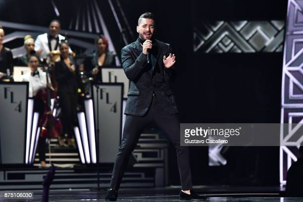 Maluma performs onstage during The 18th Annual Latin Grammy Awards at MGM Grand Garden Arena on November 16 2017 in Las Vegas Nevada
