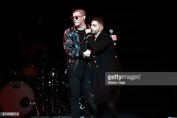 Maluma performs with Bad Bunny as part of Maluma In Concert at Coliseo Jose M Agrelot on November 19 2016 in San Juan Puerto Rico